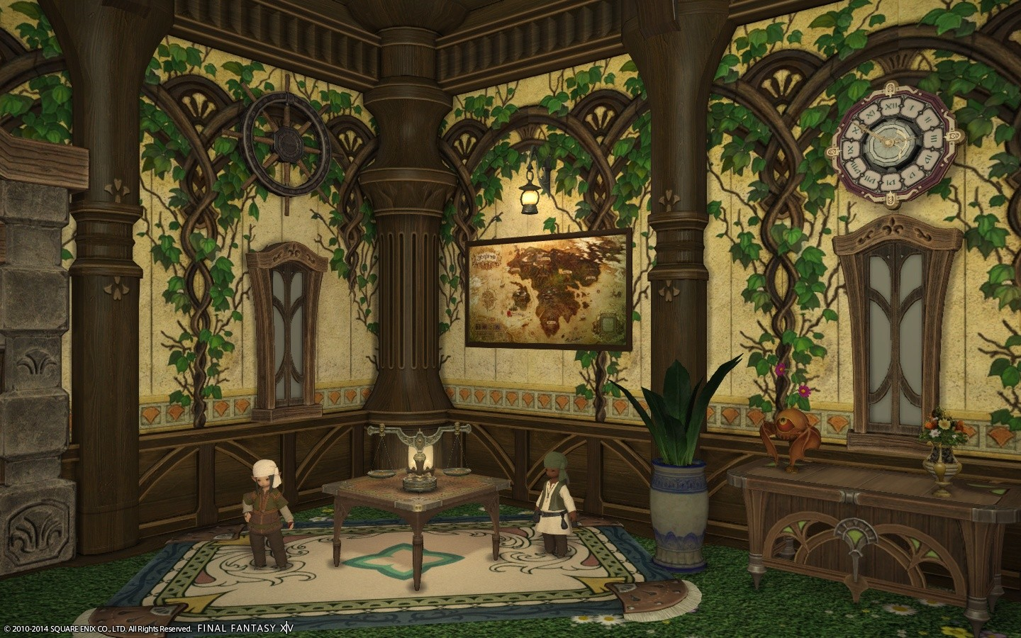 Final Fantasy XIV: A Realm Reborn - My House (with merchants)