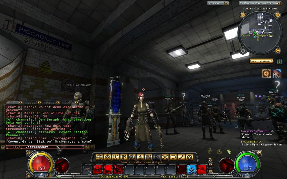 Hellgate - station quite full w people