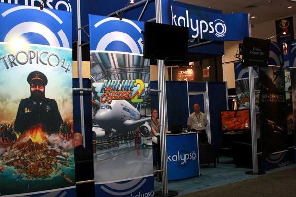 The Kalypso booth