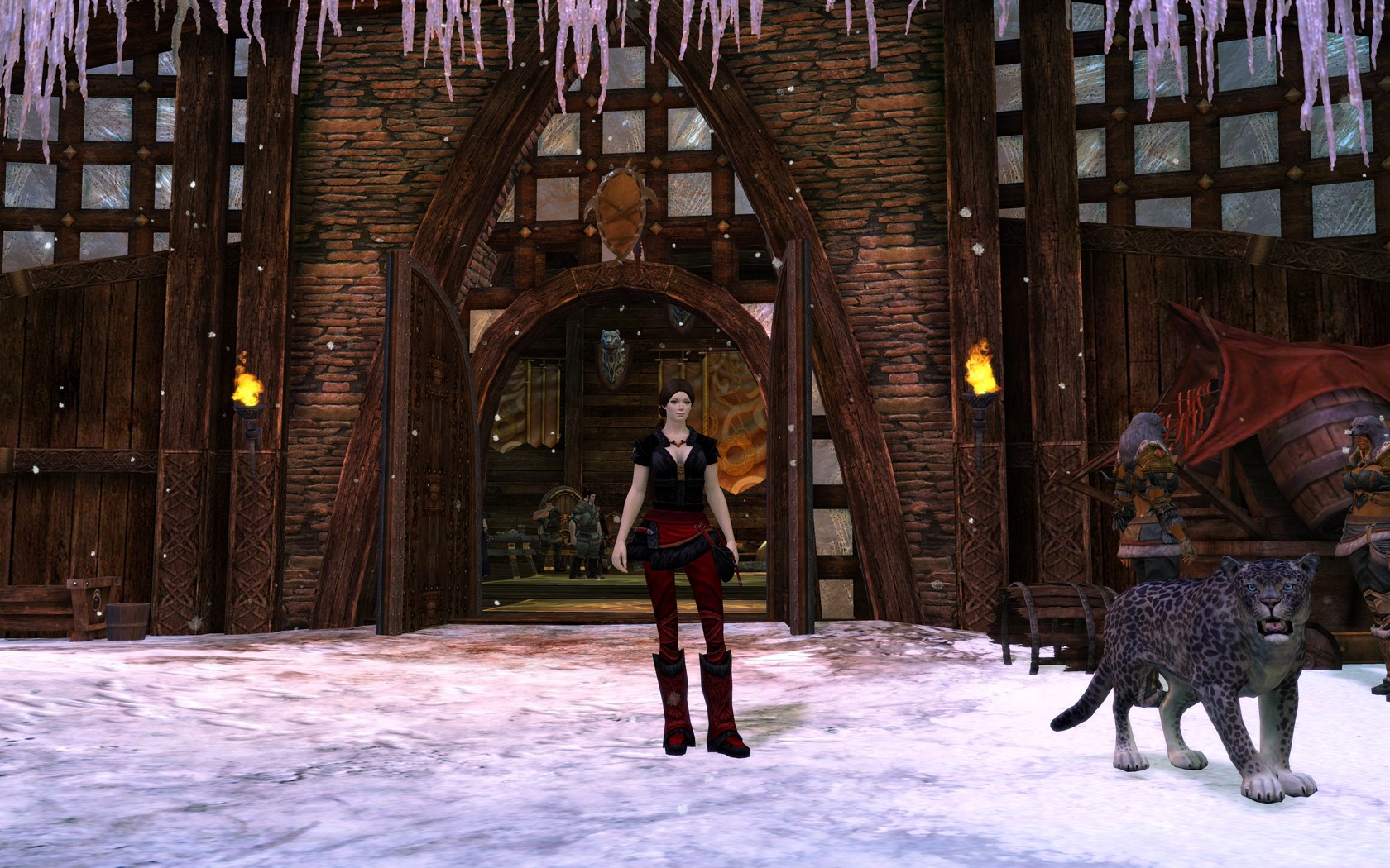 Guild Wars 2 - me and my pet in the city :)