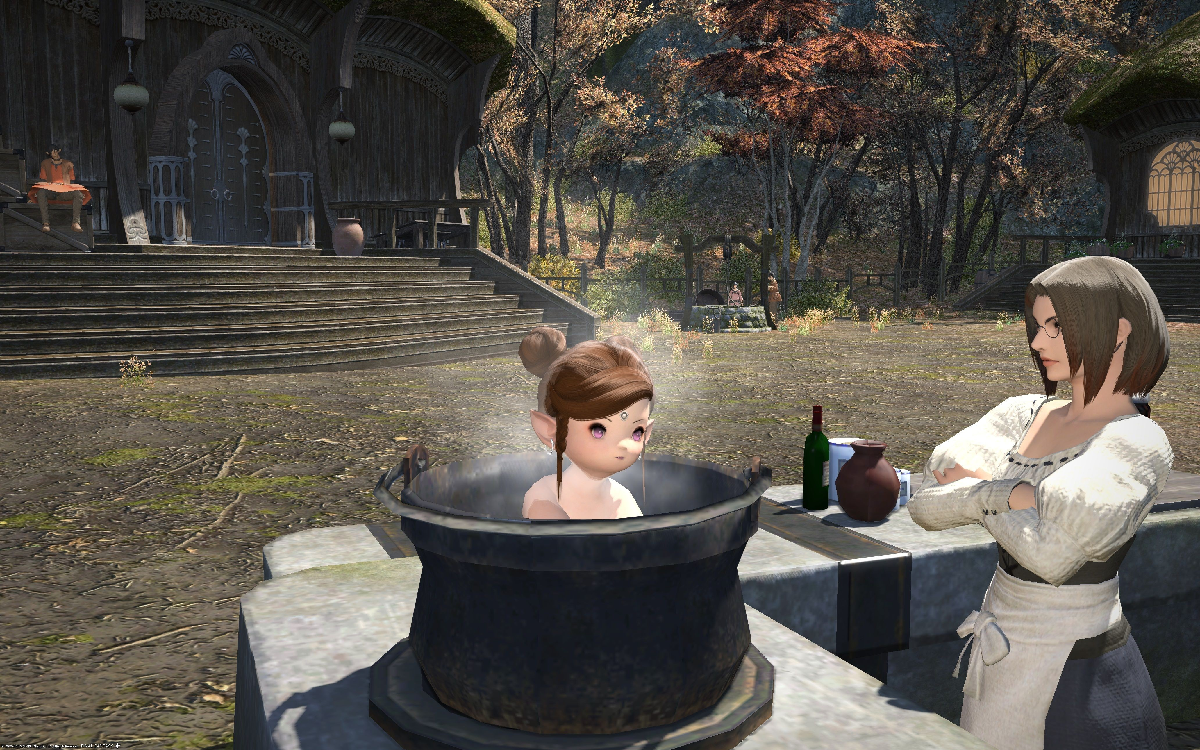 Final Fantasy XIV: A Realm Reborn - bathing time :P