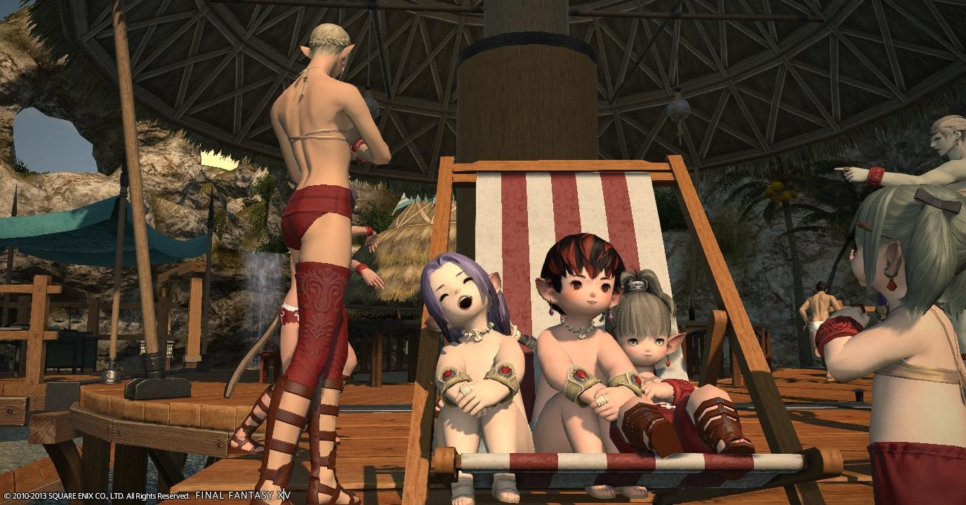 Final Fantasy XIV: A Realm Reborn - tanning time :)