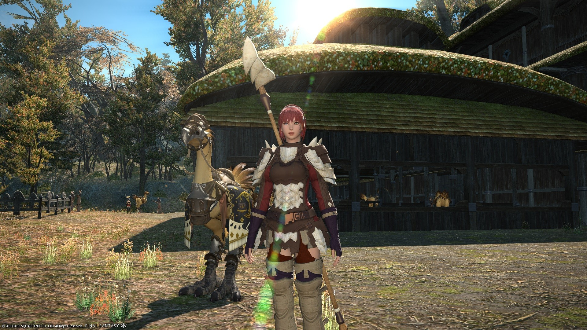 Final Fantasy XIV: A Realm Reborn - Lancer With Chocobo Companion