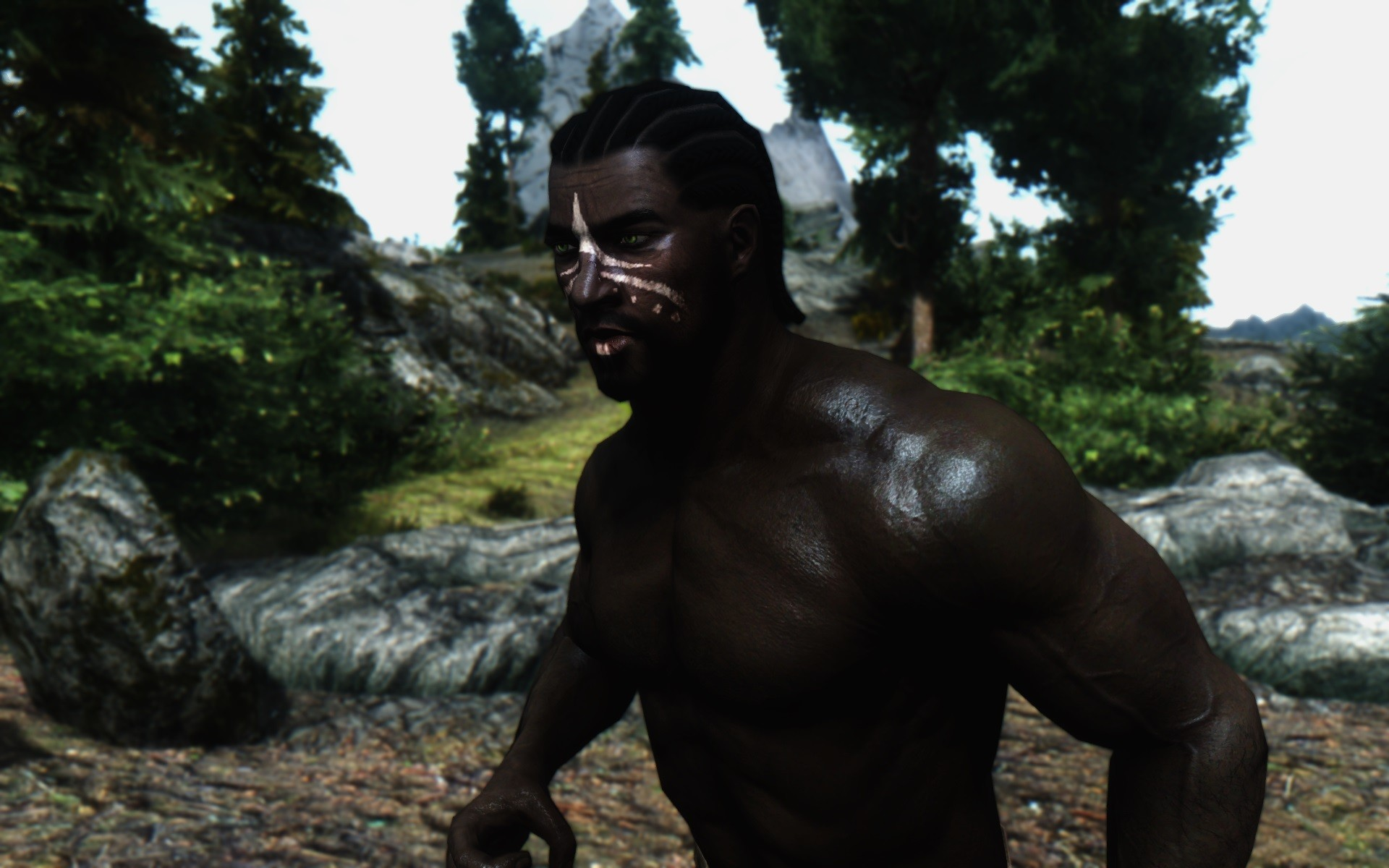 Nelos enjoys a morning run - Skyrim Revisited