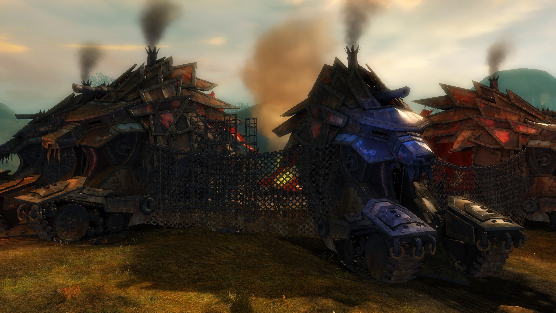 Charr war wagons at Warrior's Crown