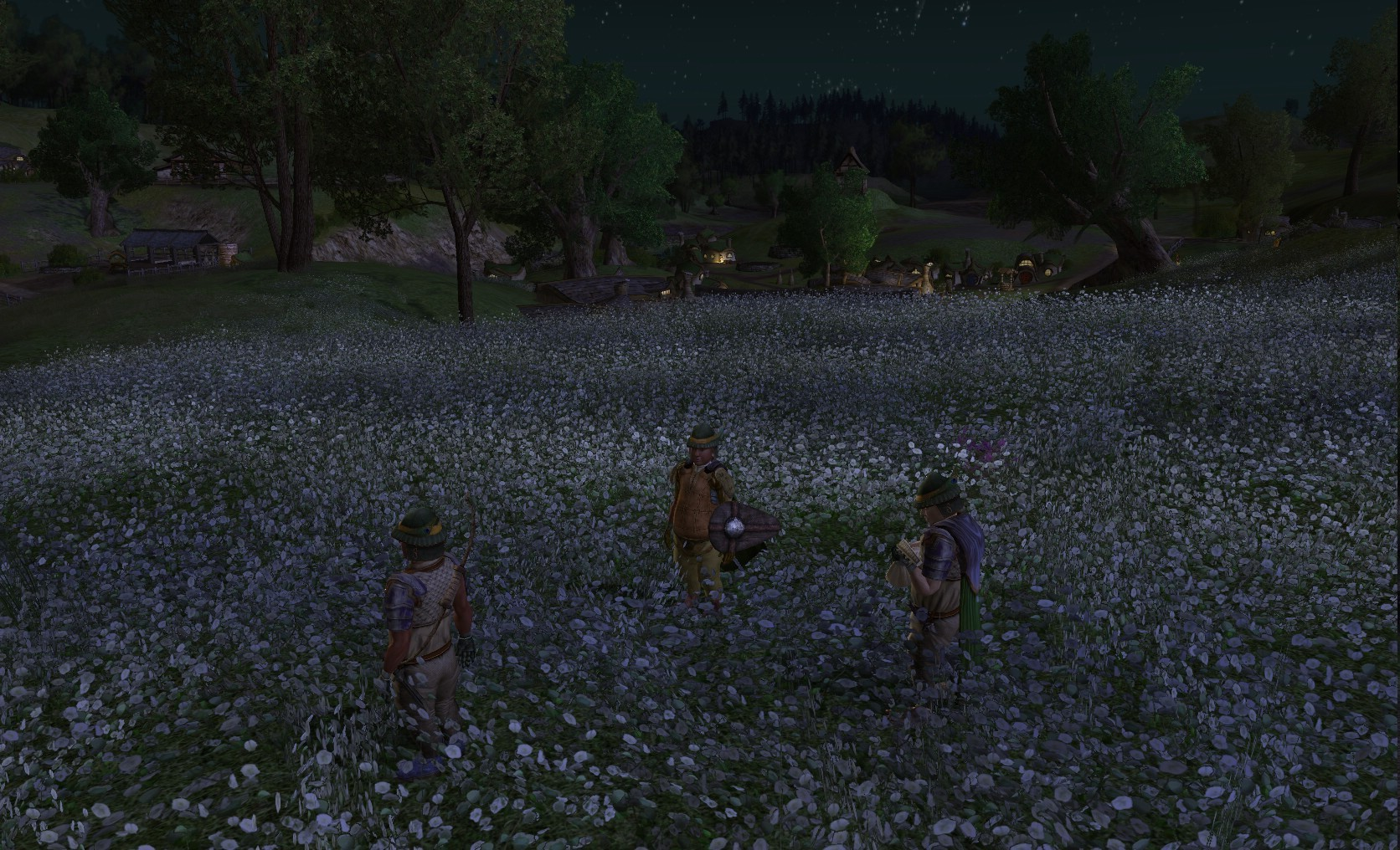 Lord of the Rings Online - Frolicking Hobbits at Midnight