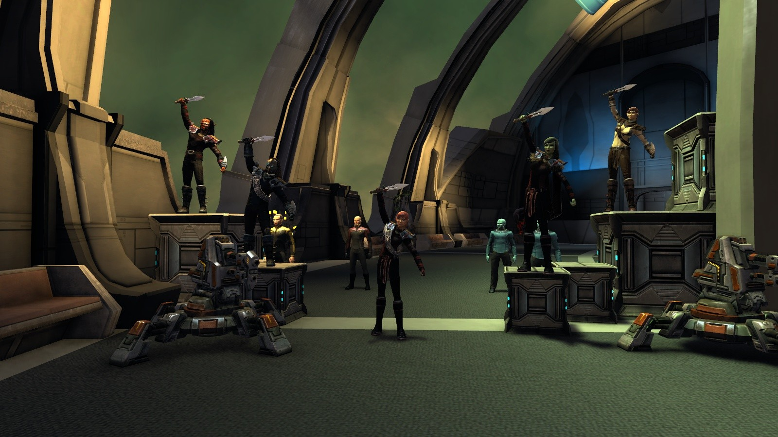 Star Trek Online - Klingon Infected STF (L to R): Iceroid, Twenty-One, Little Wolf, Amasu, U'lfur