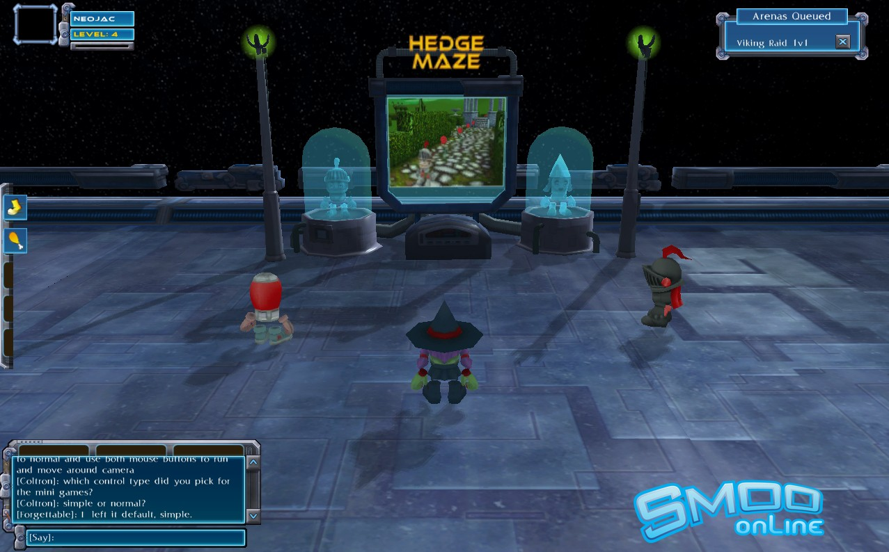 Smoo Online - Alpha testing getting ready for Hedge mini game