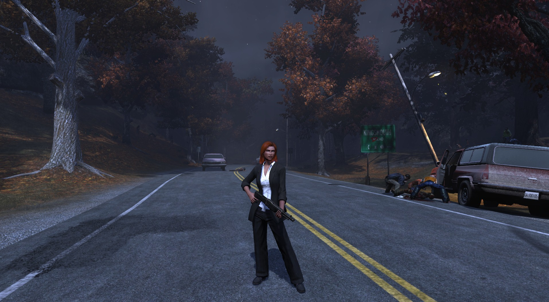 The Secret World - Agent Scully with shotgun