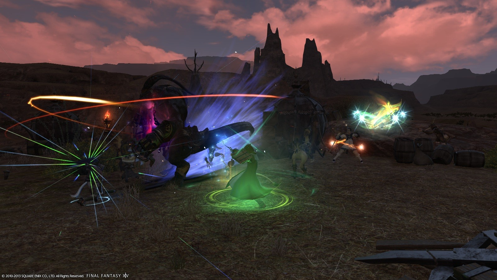 Final Fantasy XIV: A Realm Reborn - Yup.. typical FF battle. Particle effects everywhere =P