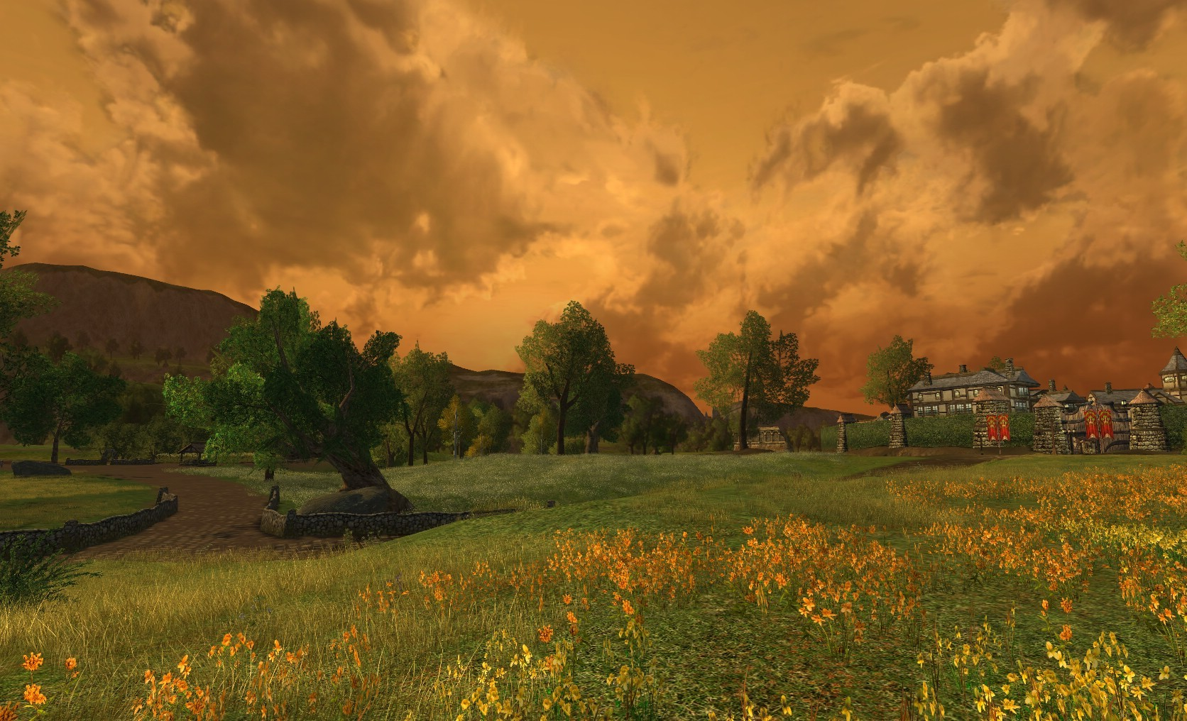Lord of the Rings Online - Bree-Fields at Sunset