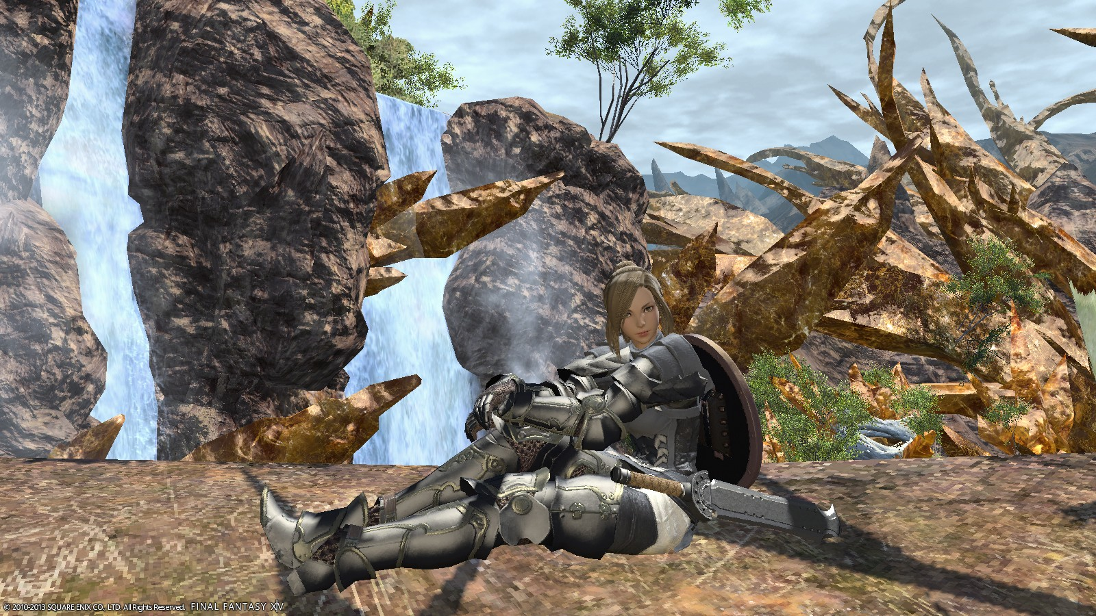 Final Fantasy XIV: A Realm Reborn - Taking a break to enjoy the view