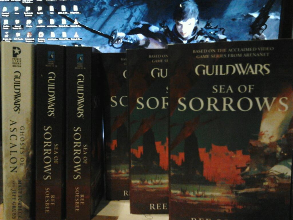 Guild Wars 2 - Sea of Sorrows novel for me and my guildies finally arrived!