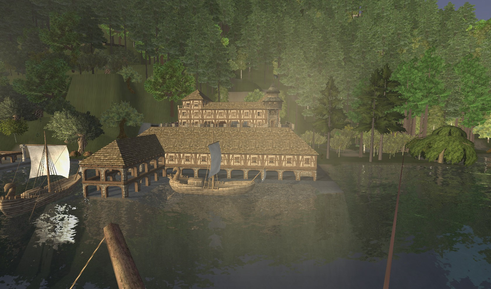 Wurm Online - Player Built Home and Ship