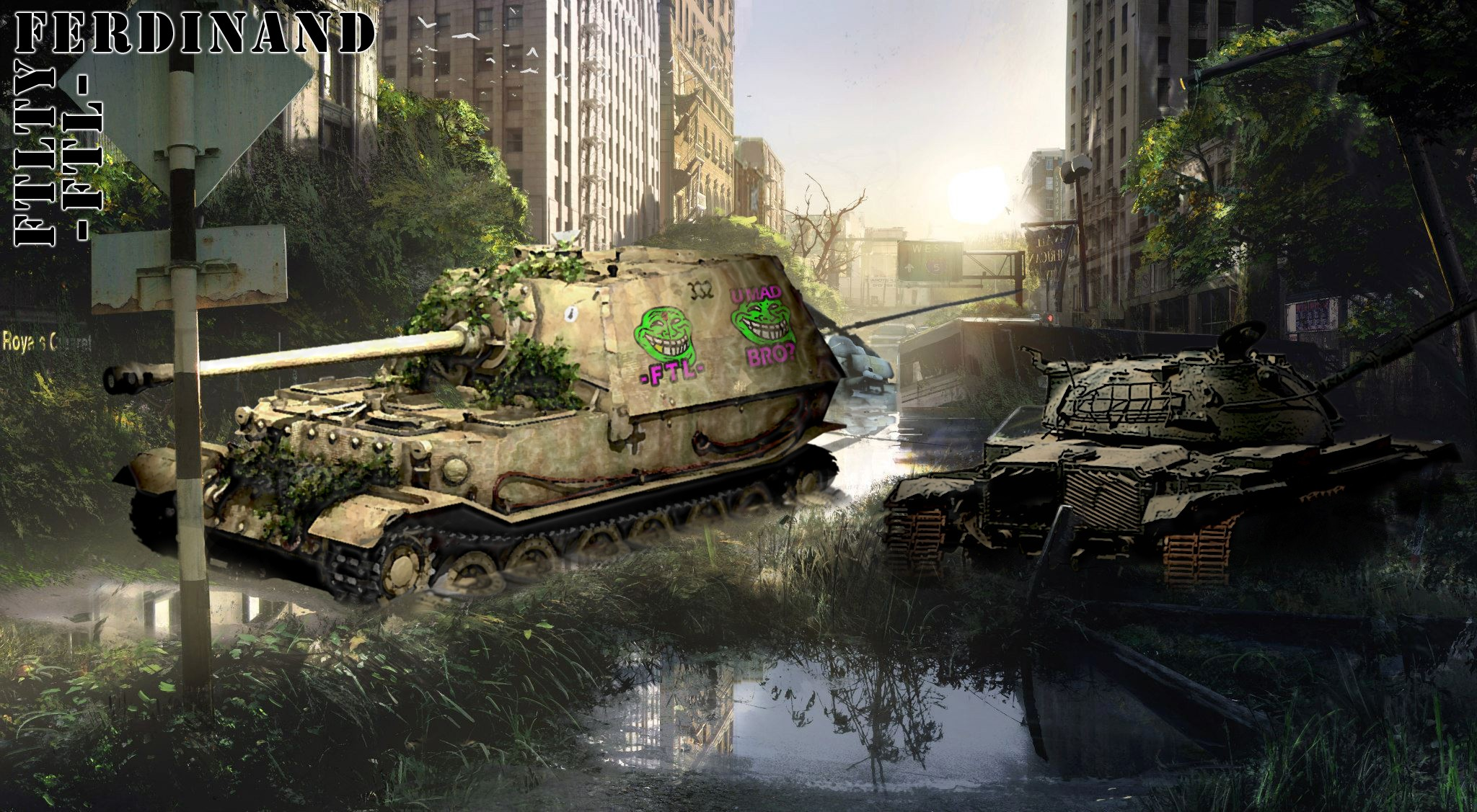 FERDINAND TANK DESTROYER FTL FTLTY CLAN WORLD OF TANKS FATALITY FATAL1TY