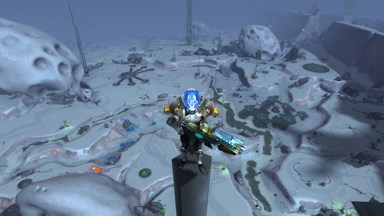 WildStar - Standing on top of a huge antenna on Farside (the best instance I have ever played in any game)