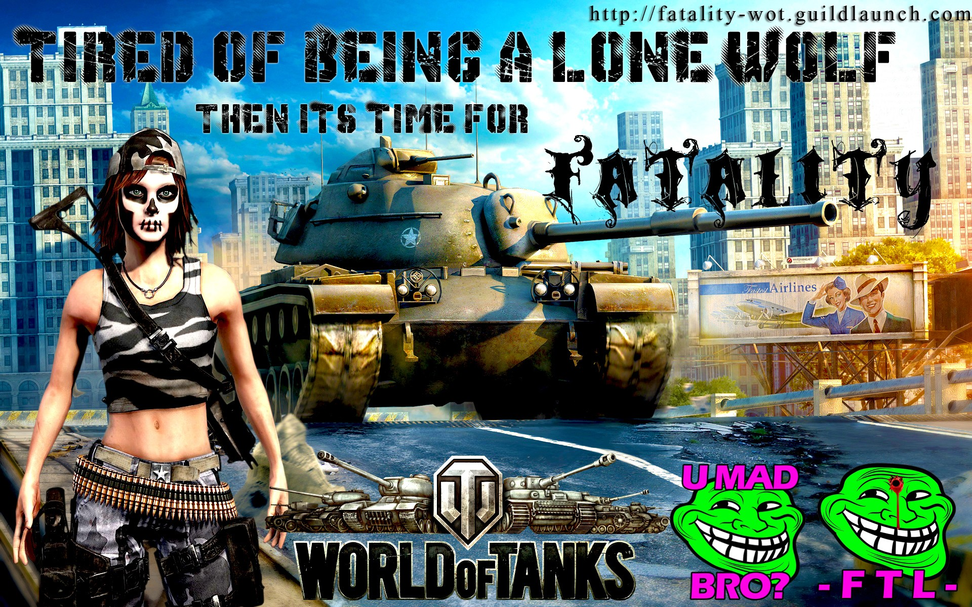 T110E3 HEAVY TANK RECRUITMENT -FTL- FTLTY FATALITY FATAL1TY CLAN WALLPAPER WORLD OF TANKS