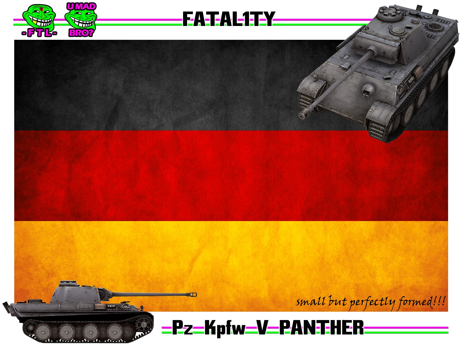PANTHER MEDIUM TANK FTL FTLTY CLAN WORLD OF TANKS FATALITY FATAL1TY