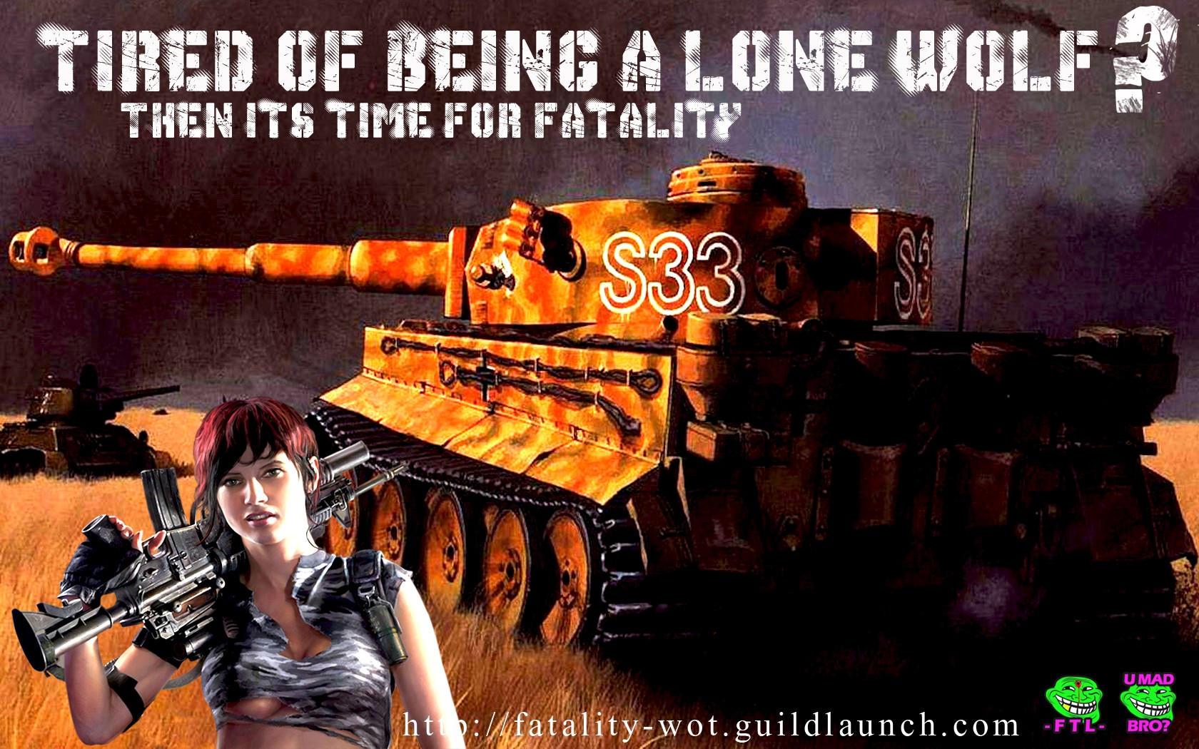 World of Tanks - TIGER HEAVY TANK FTL FTLTY CLAN WORLD OF TANKS FATALITY FATAL1TY
