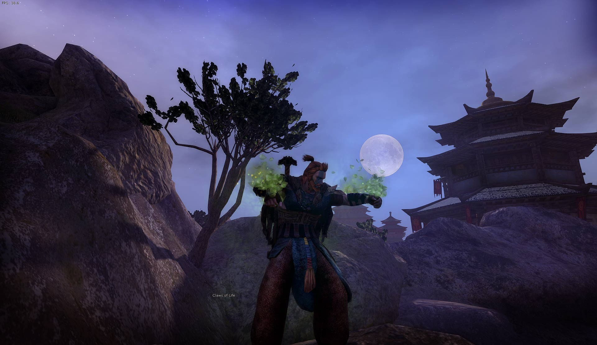 Age of Conan: Unchained - Kang Pagoda by night