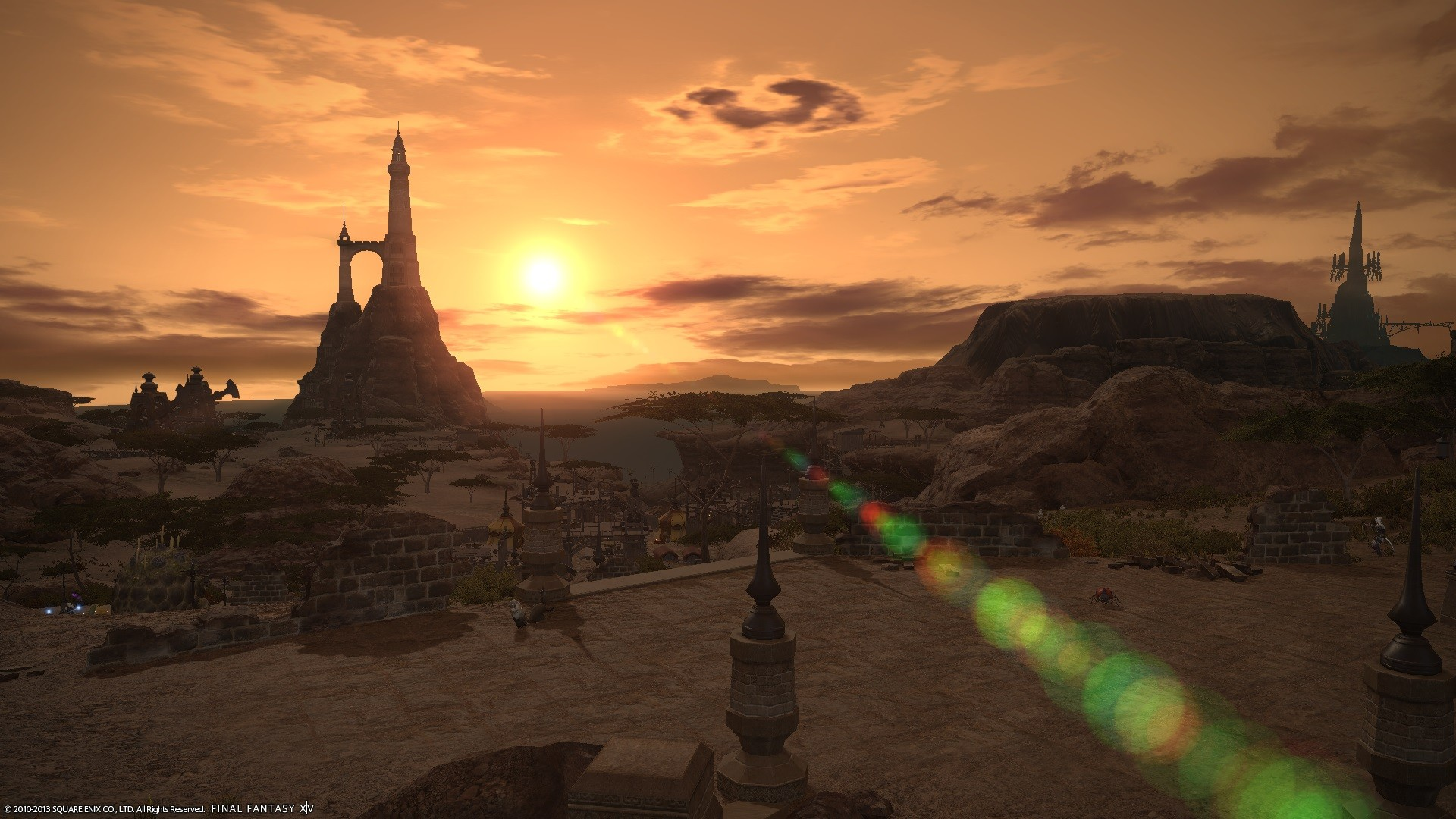 Final Fantasy XIV: A Realm Reborn - Nice Sunset and awesome GFX