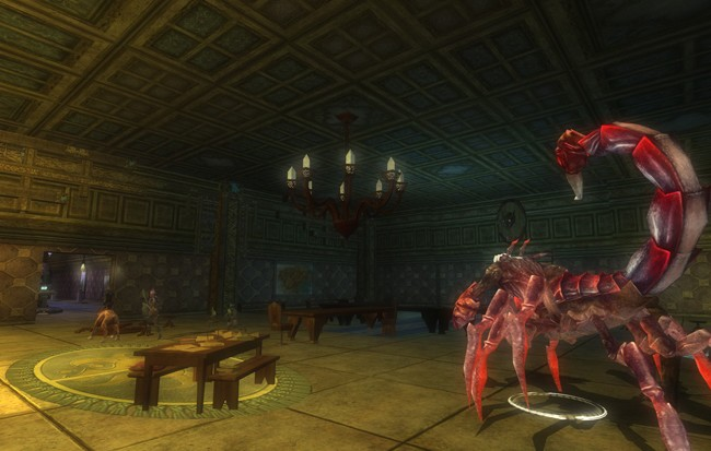 Dungeons & Dragons Online - DDO:U New quest in Marketplace. That Drider looks pretty pissed off. From ddocast.com.