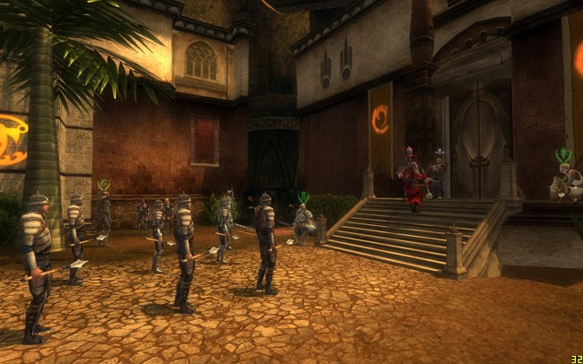 "Dungeons & Dragons Online - DDO:U Renovated Marketplace, guards doing daily routine, someone shouting at them. And new series of ""Crime"" themed quests in city."