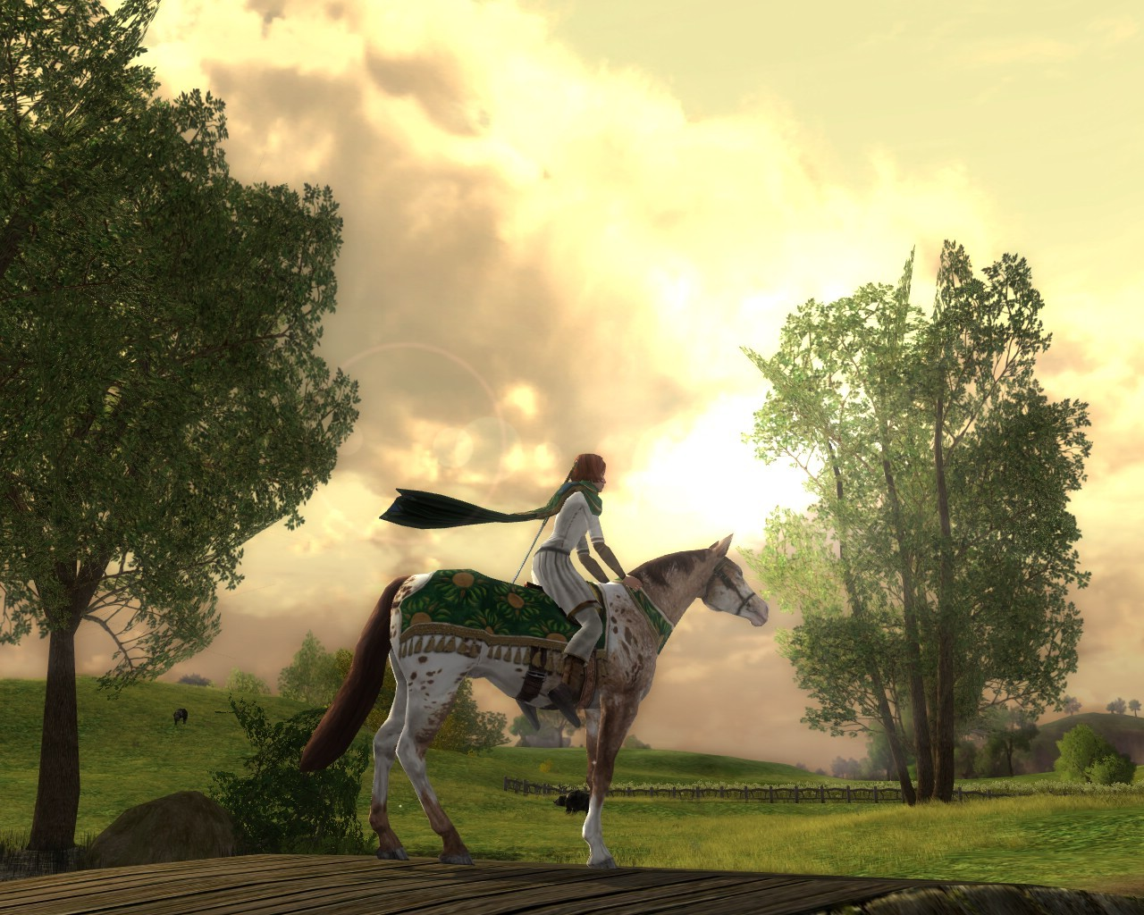 Lord of the Rings Online - Bree-Land at Sunset.