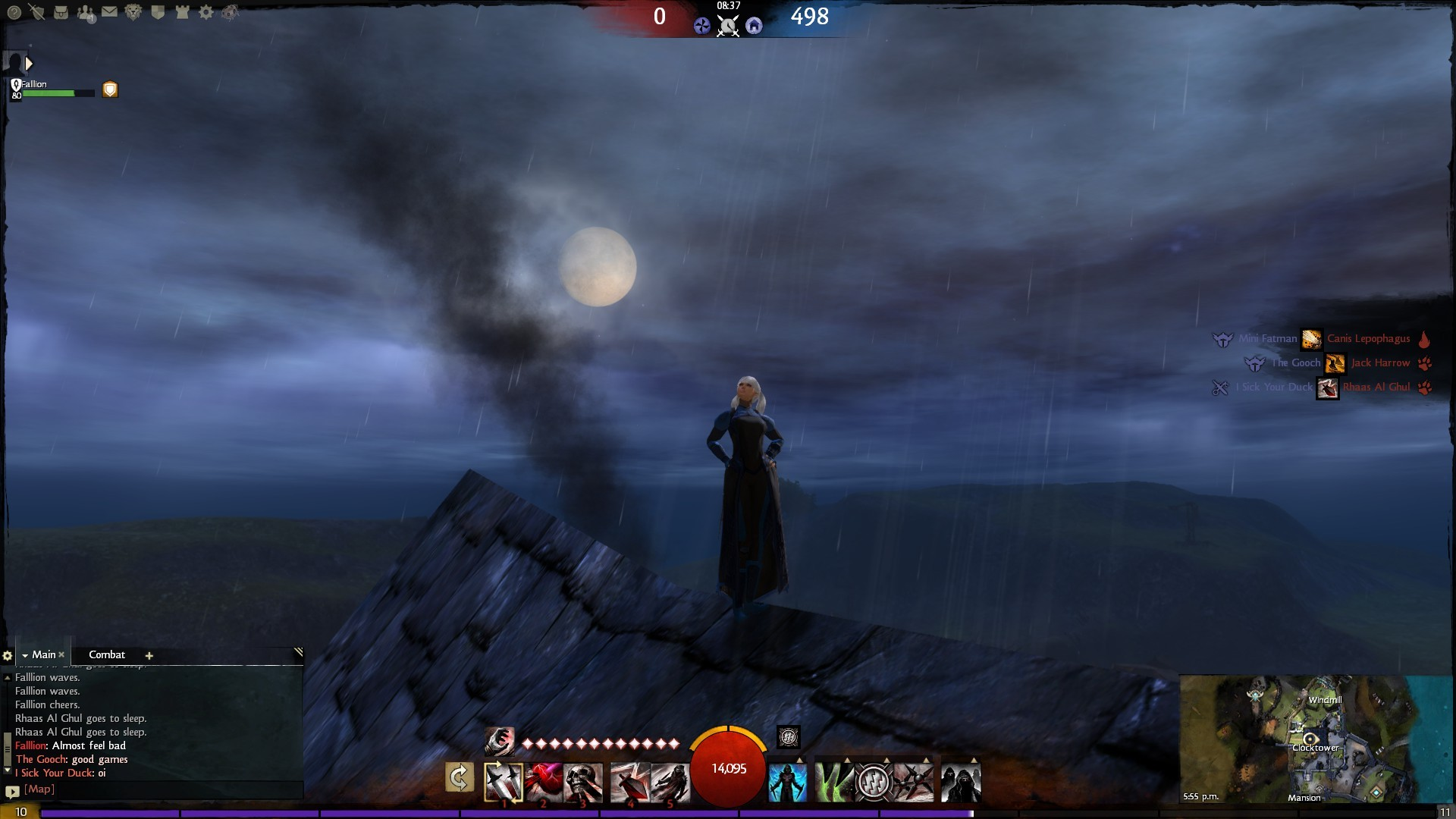 Guild Wars 2 - Just waiting ontop of the clocktower for Red Team.