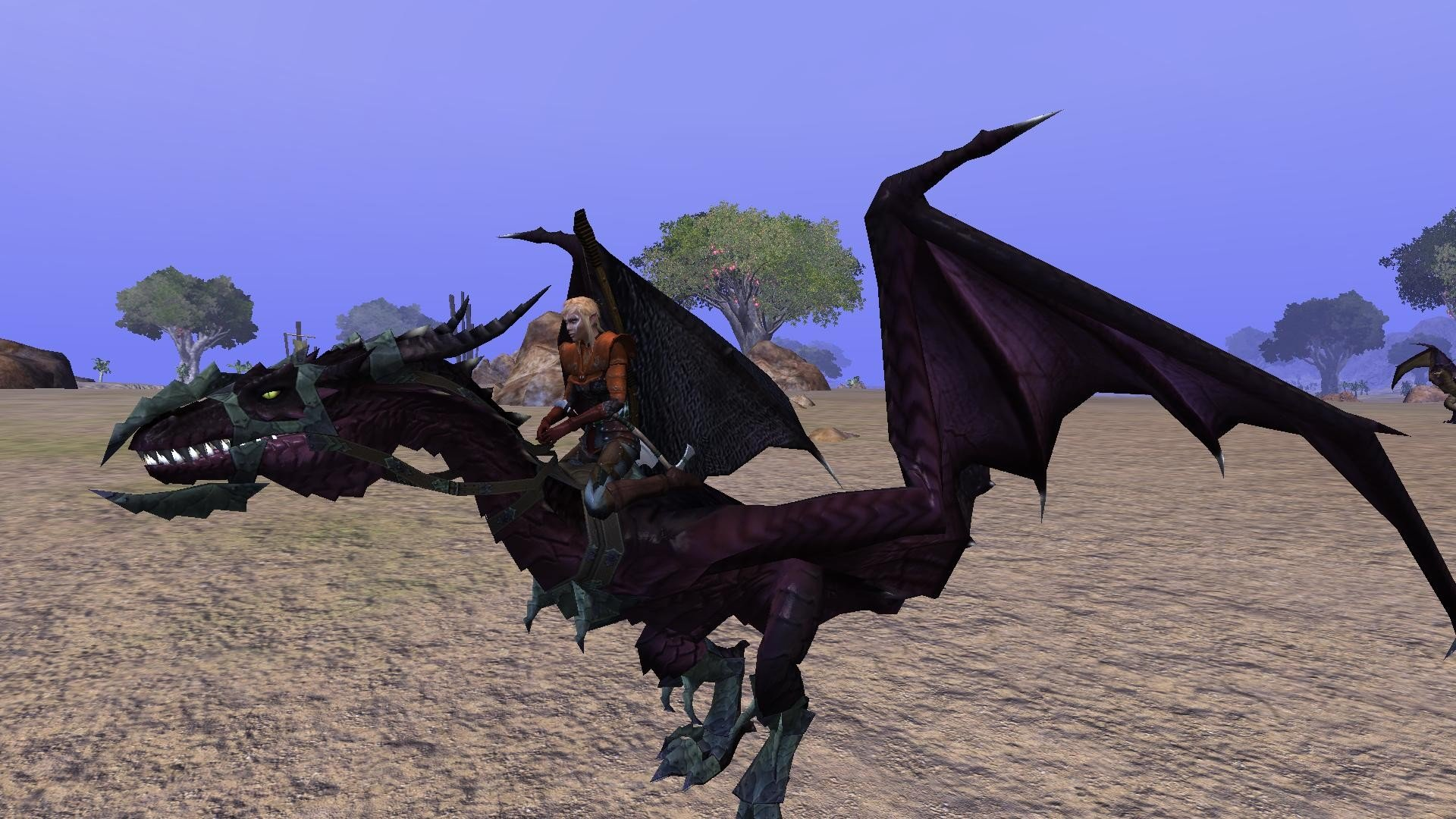 Meniel on a Wyvern Mount