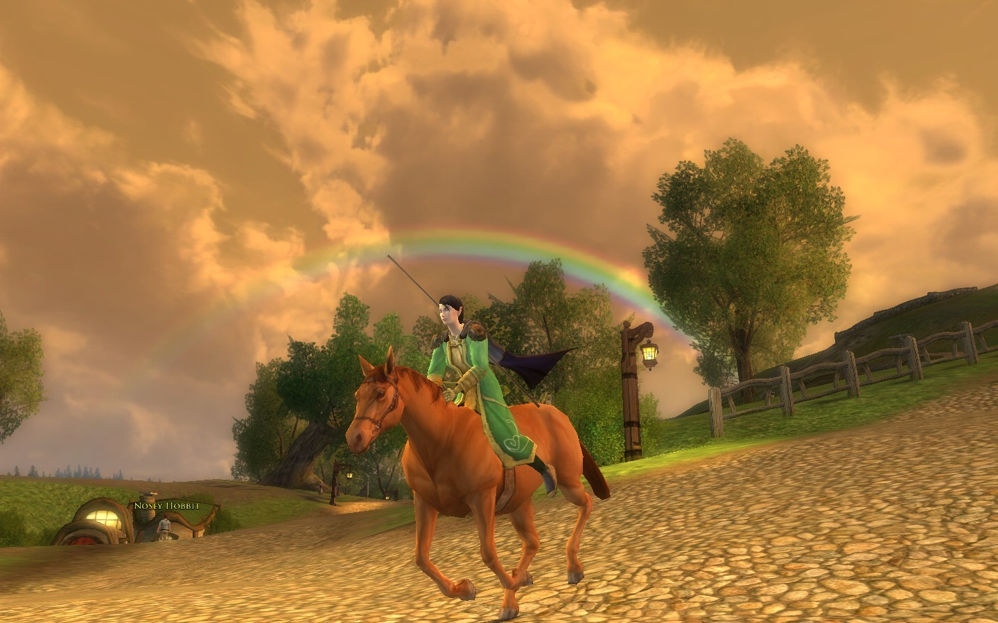Lord of the Rings Online - A Giant Leprecaun riding a horse