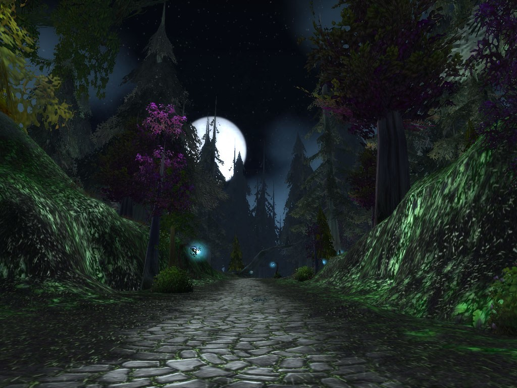 World of Warcraft - WoW has pretty good graphics. Darkshore at night