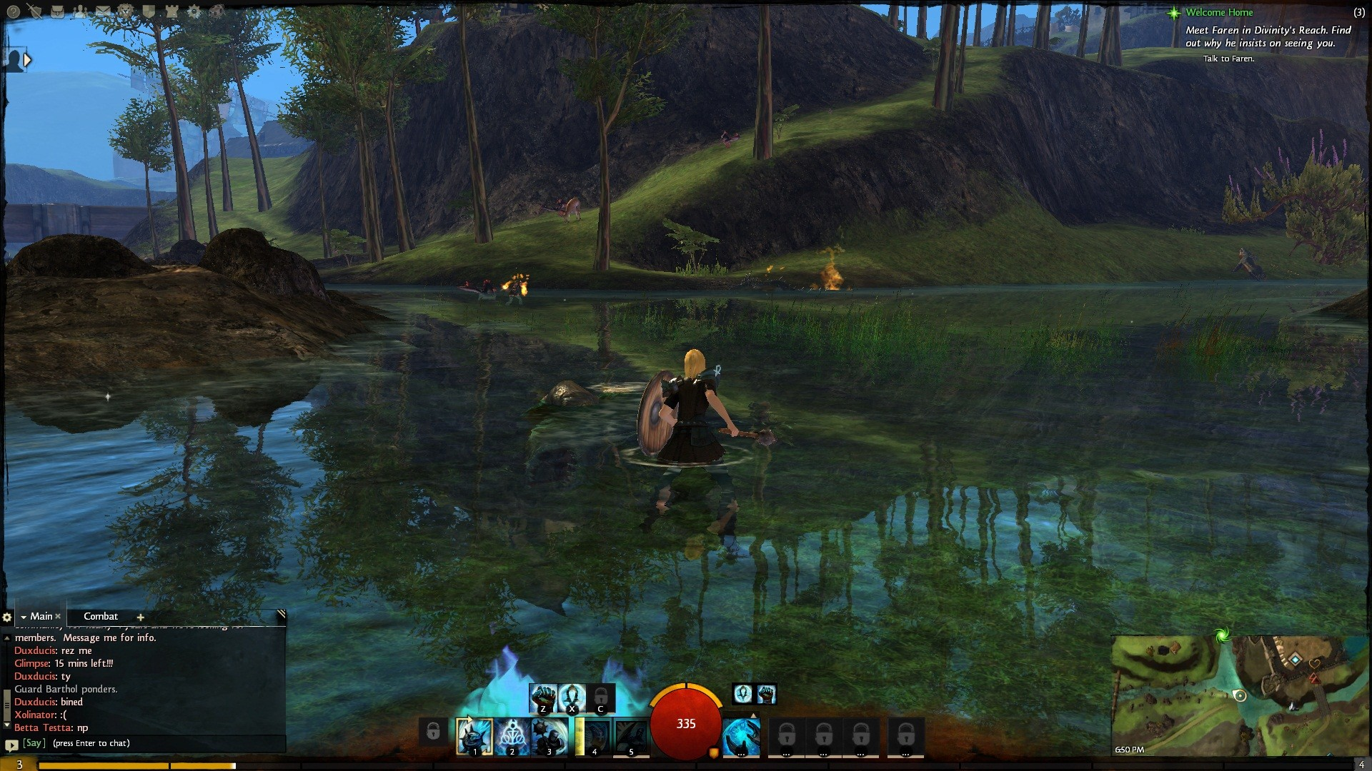Guild Wars 2 - Water reflections are a bit much.