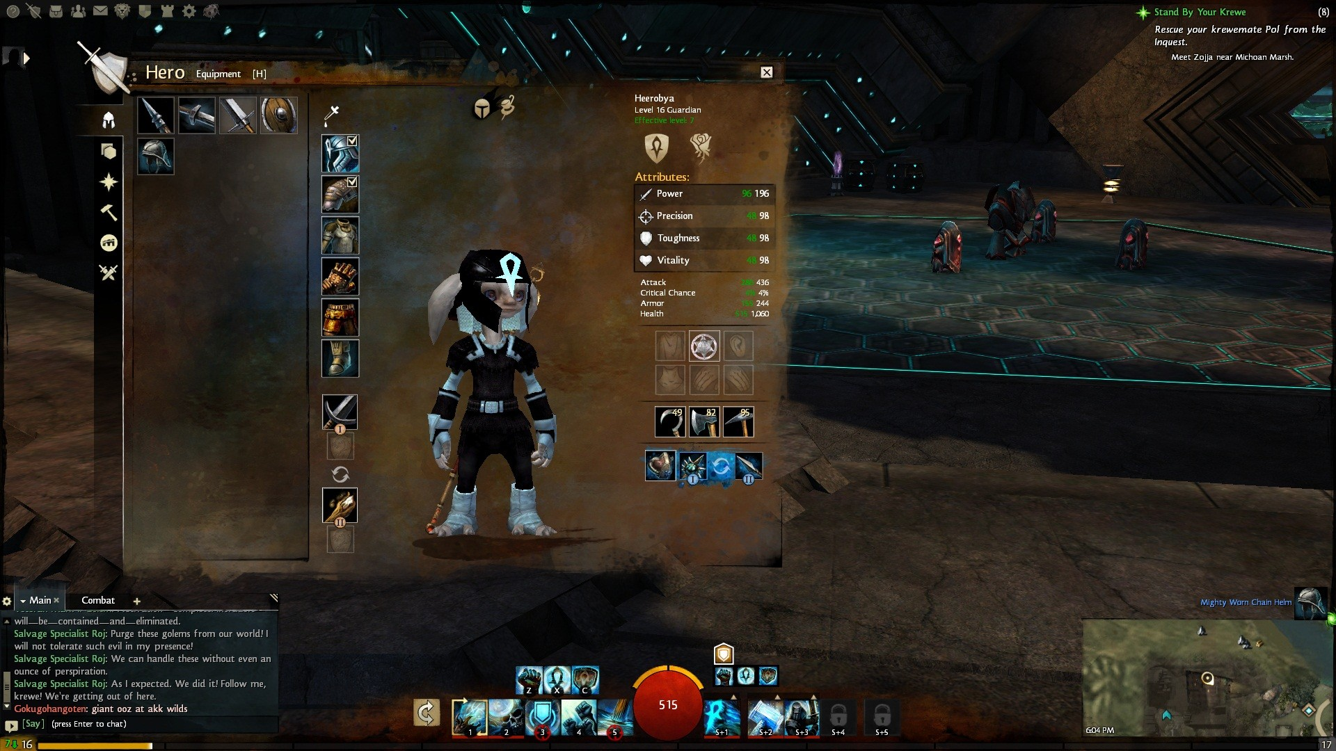 Guild Wars 2 - Found a rare black dye! Too bad it's beta :(