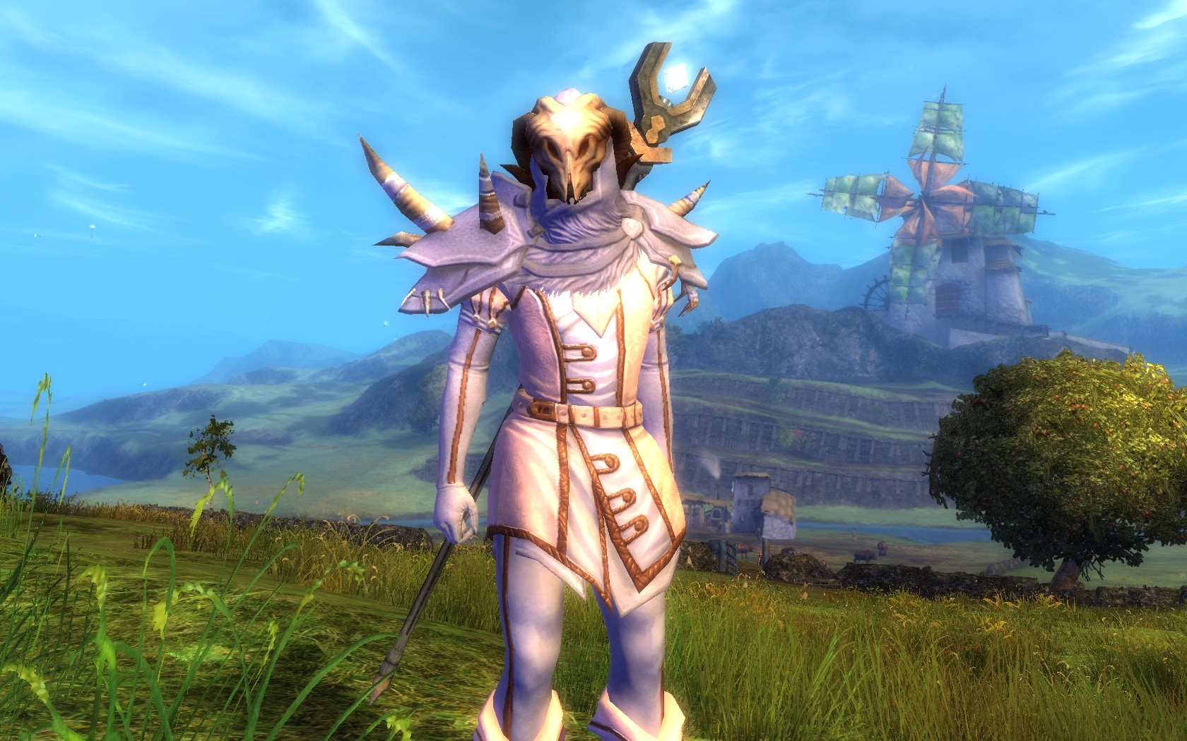 Guild Wars 2 - found an awesome looking karma vendor headgear for my necro