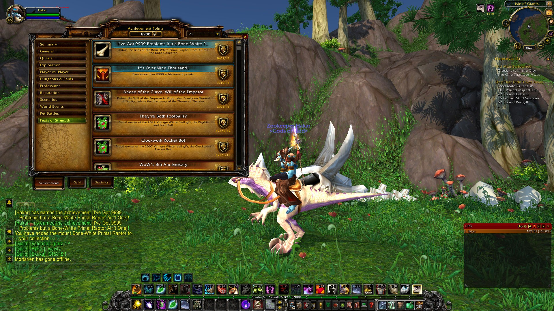 World of Warcraft - I got 9999 problems, but a bone-white primal raptor ain't one!