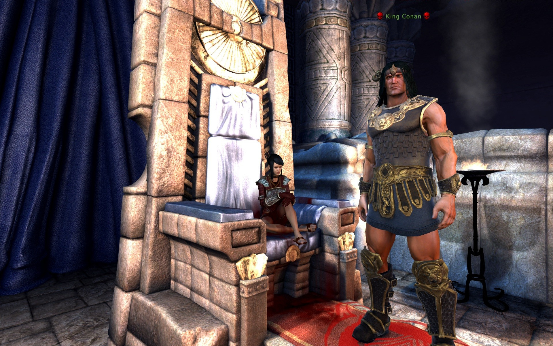 Age of Conan: Unchained - Get your own chair you dirty barbarian