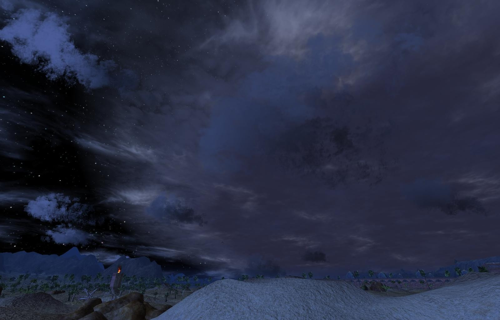 Vanguard: Saga of Heroes - huge storm front coming..rained shortly after..