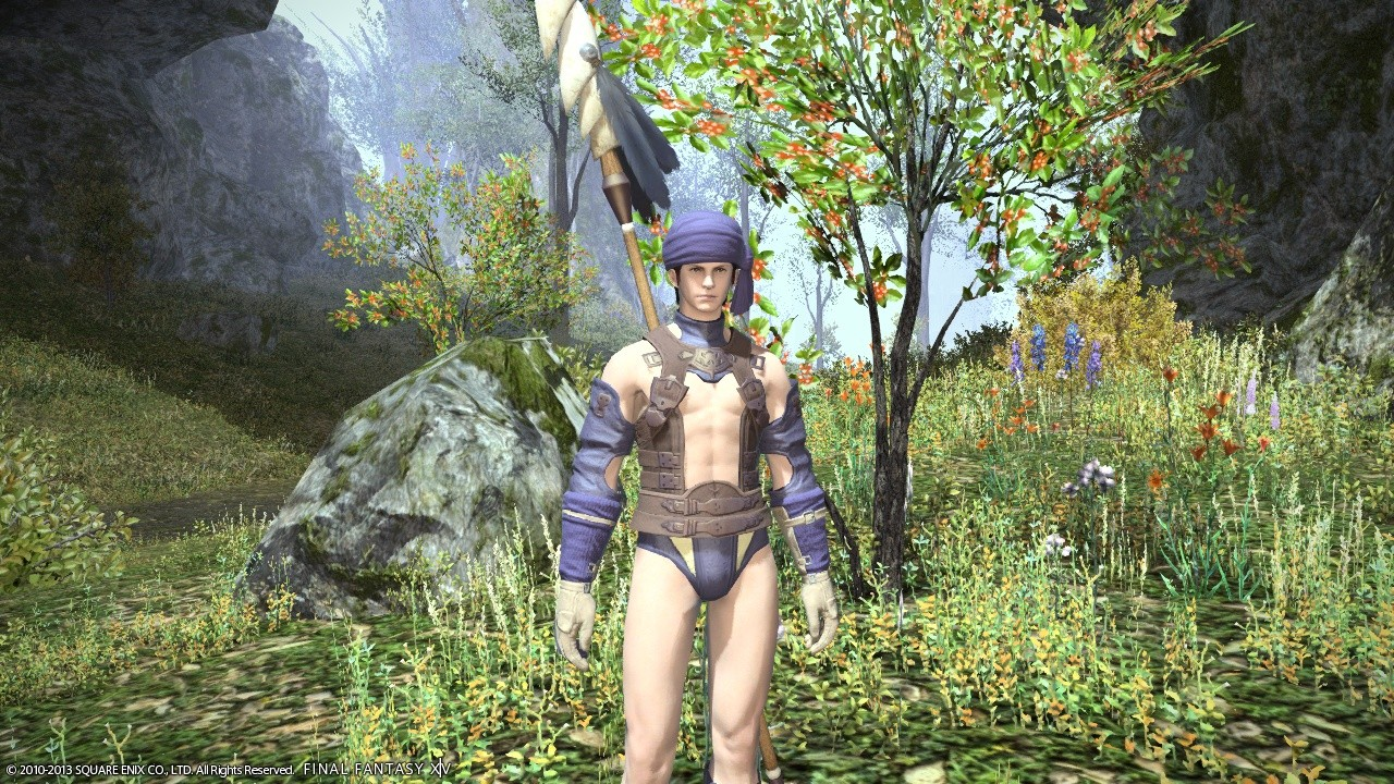 Final Fantasy XIV: A Realm Reborn - couple of hours in... picking quest specific gear... oh dear