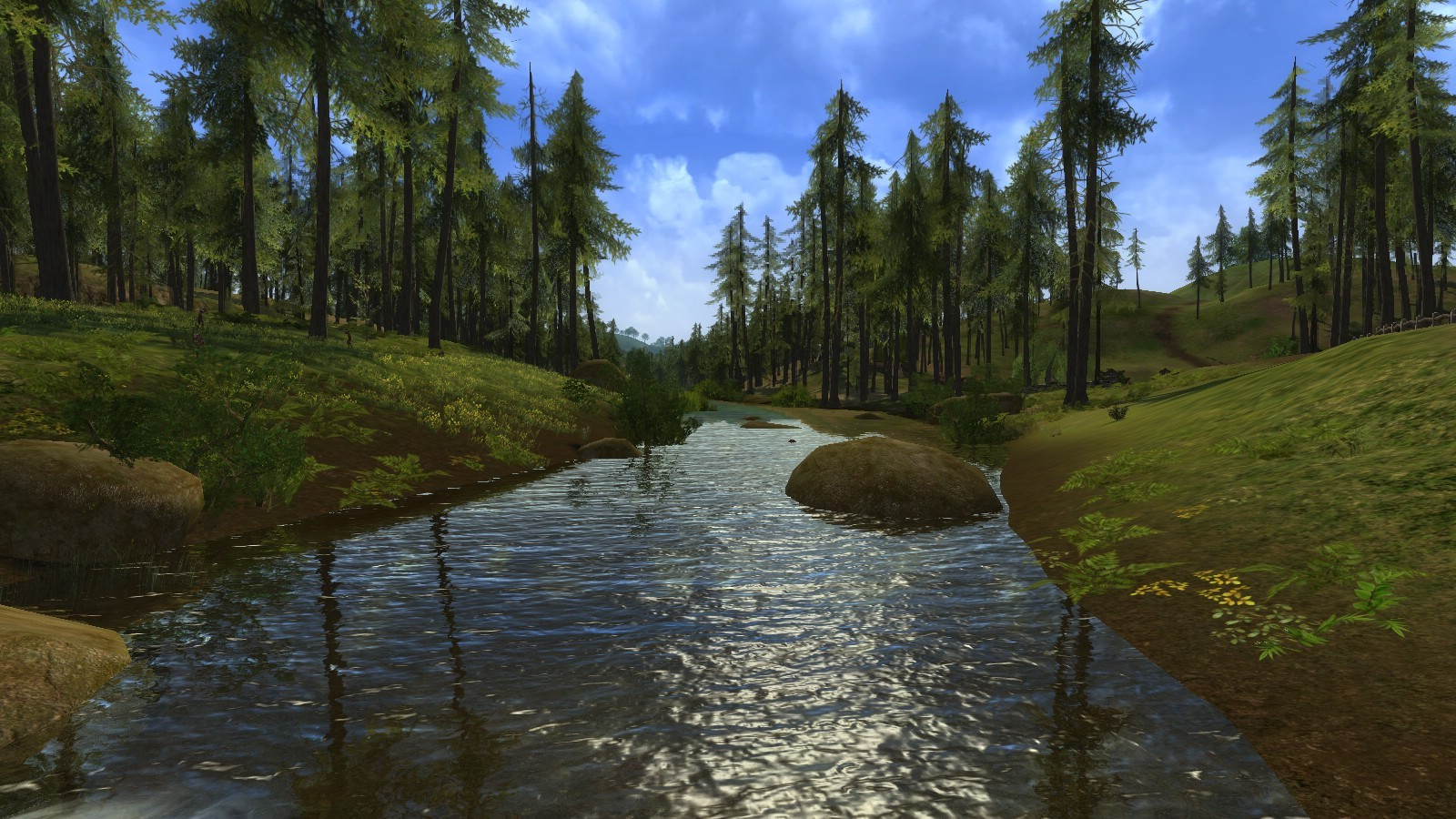 Lord of the Rings Online - Test 3, river on new laptop