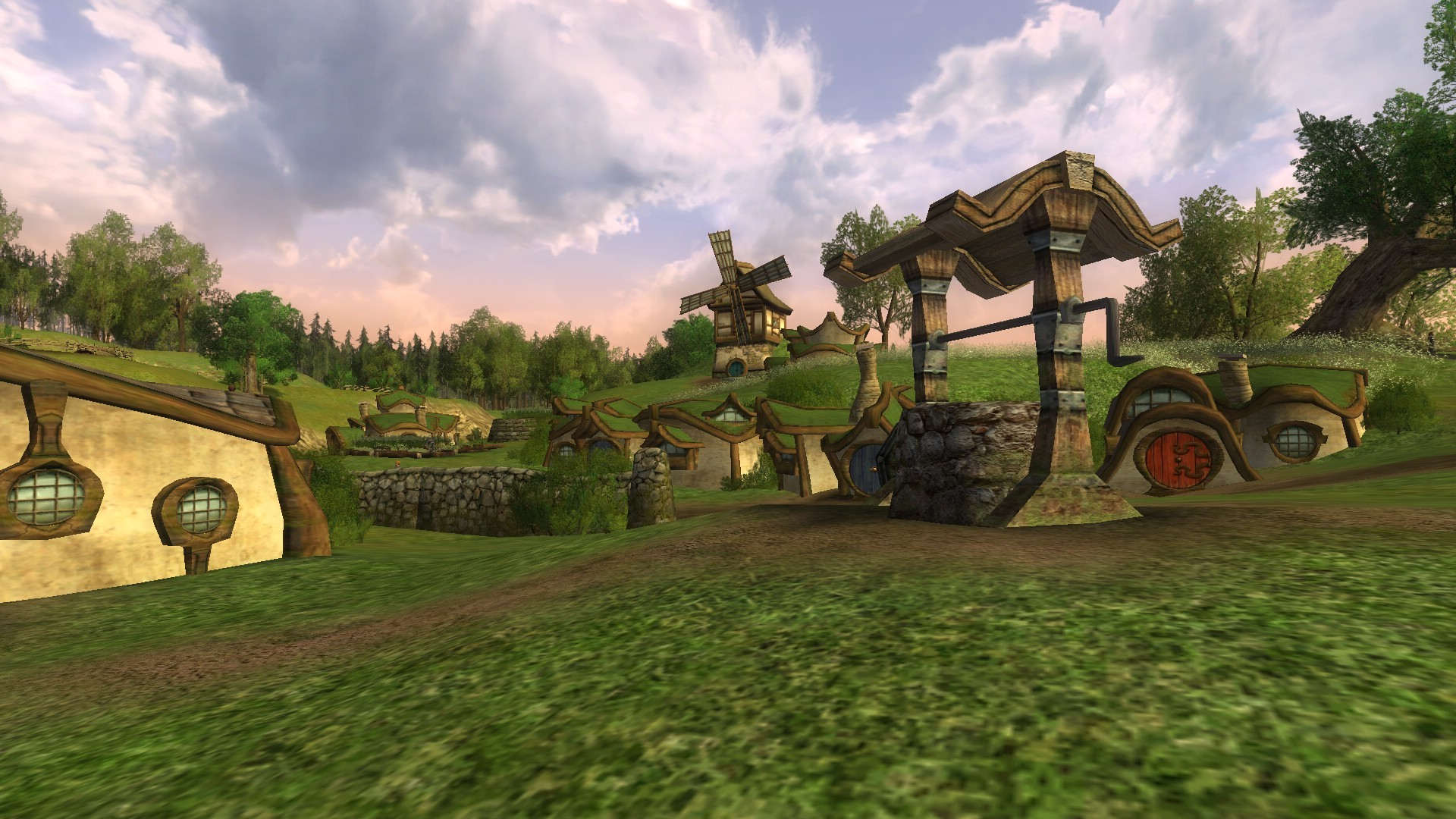 Lord of the Rings Online - Test 1, hobbiton on new laptop