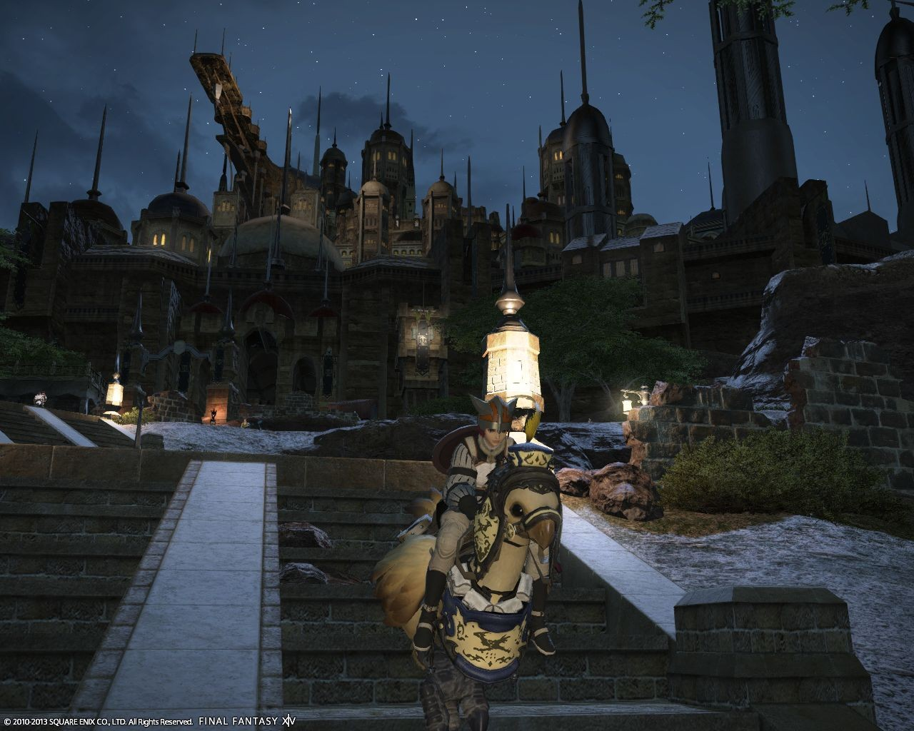 Final Fantasy XIV: A Realm Reborn - First ride...