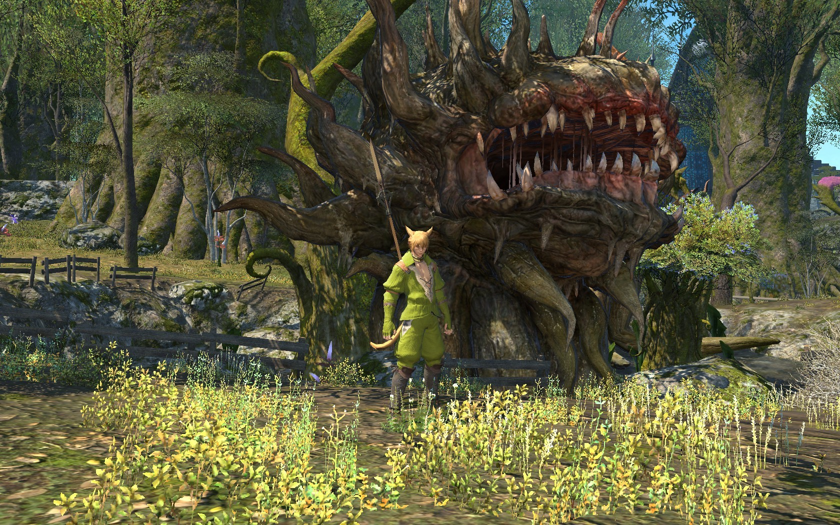 Final Fantasy XIV: A Realm Reborn - As level rises monsters seem to grow larger