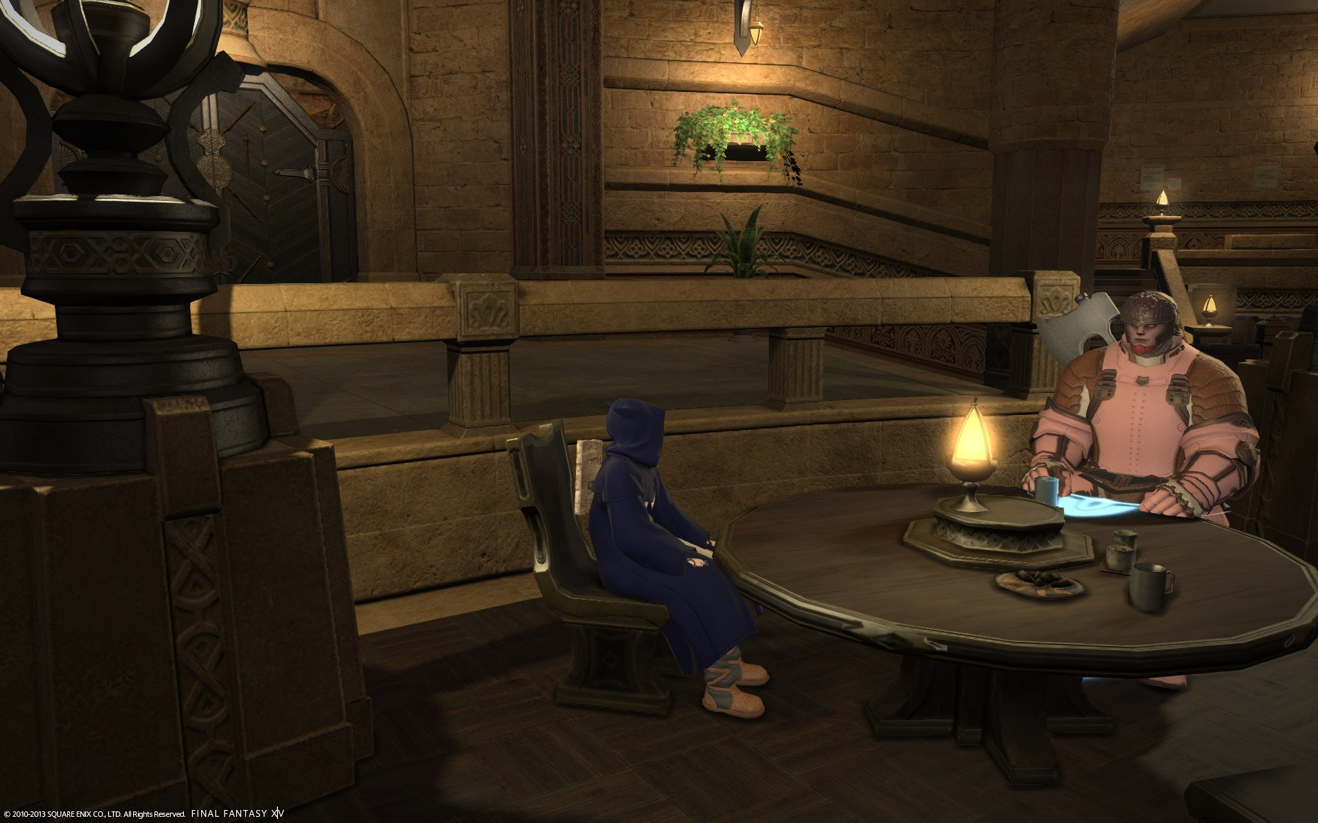 Final Fantasy XIV: A Realm Reborn - Sitting in chairs is cool, like a Fez.