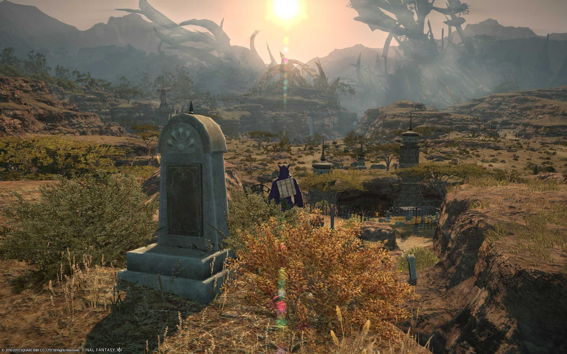 Final Fantasy XIV: A Realm Reborn - The grave has a nice view.