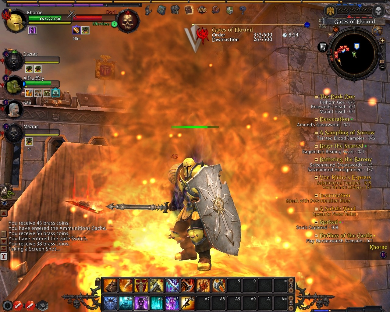 Warhammer Online: Age of Reckoning - The anger of the Blood God is like a fiery inferno.