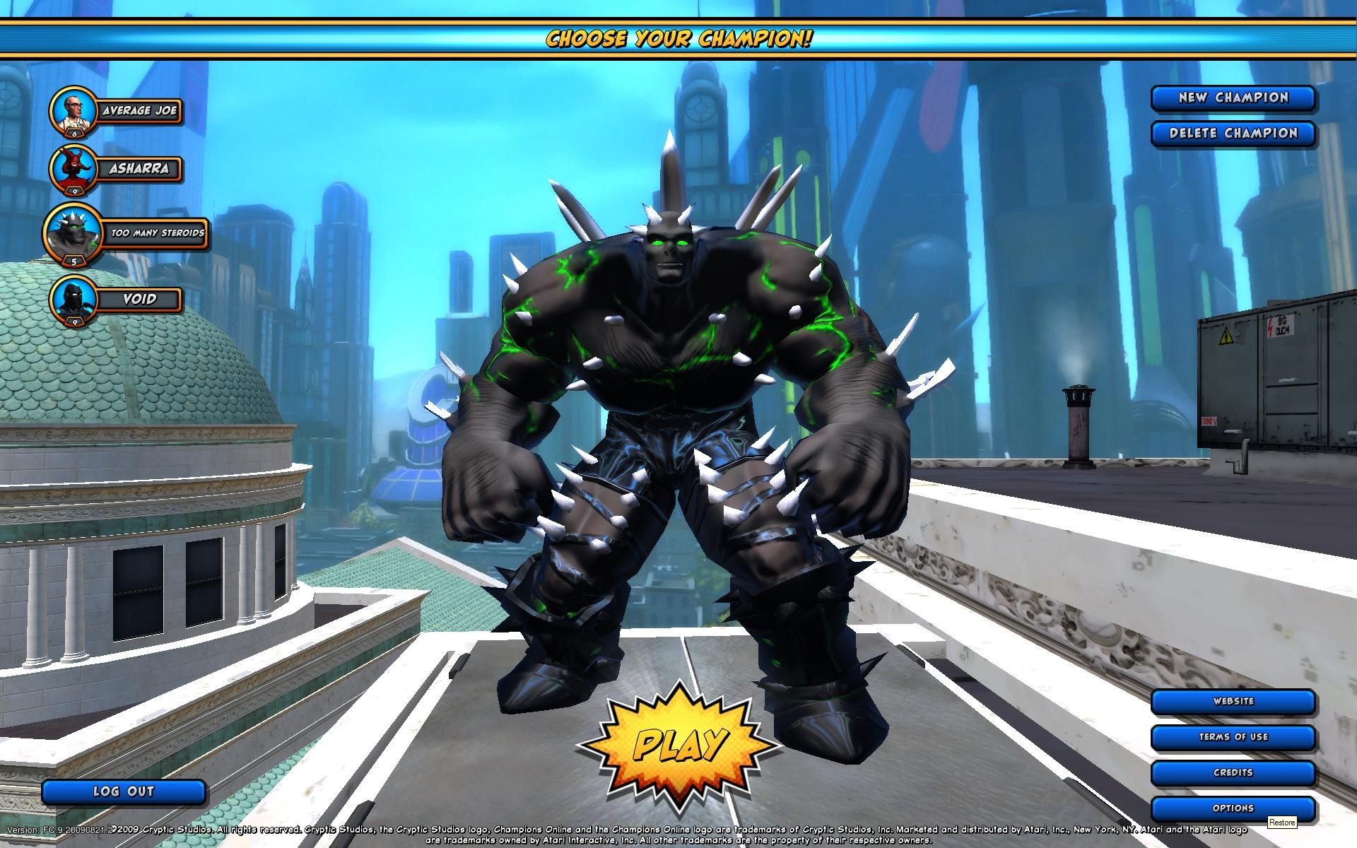 Champions Online - My brute - my least favorite