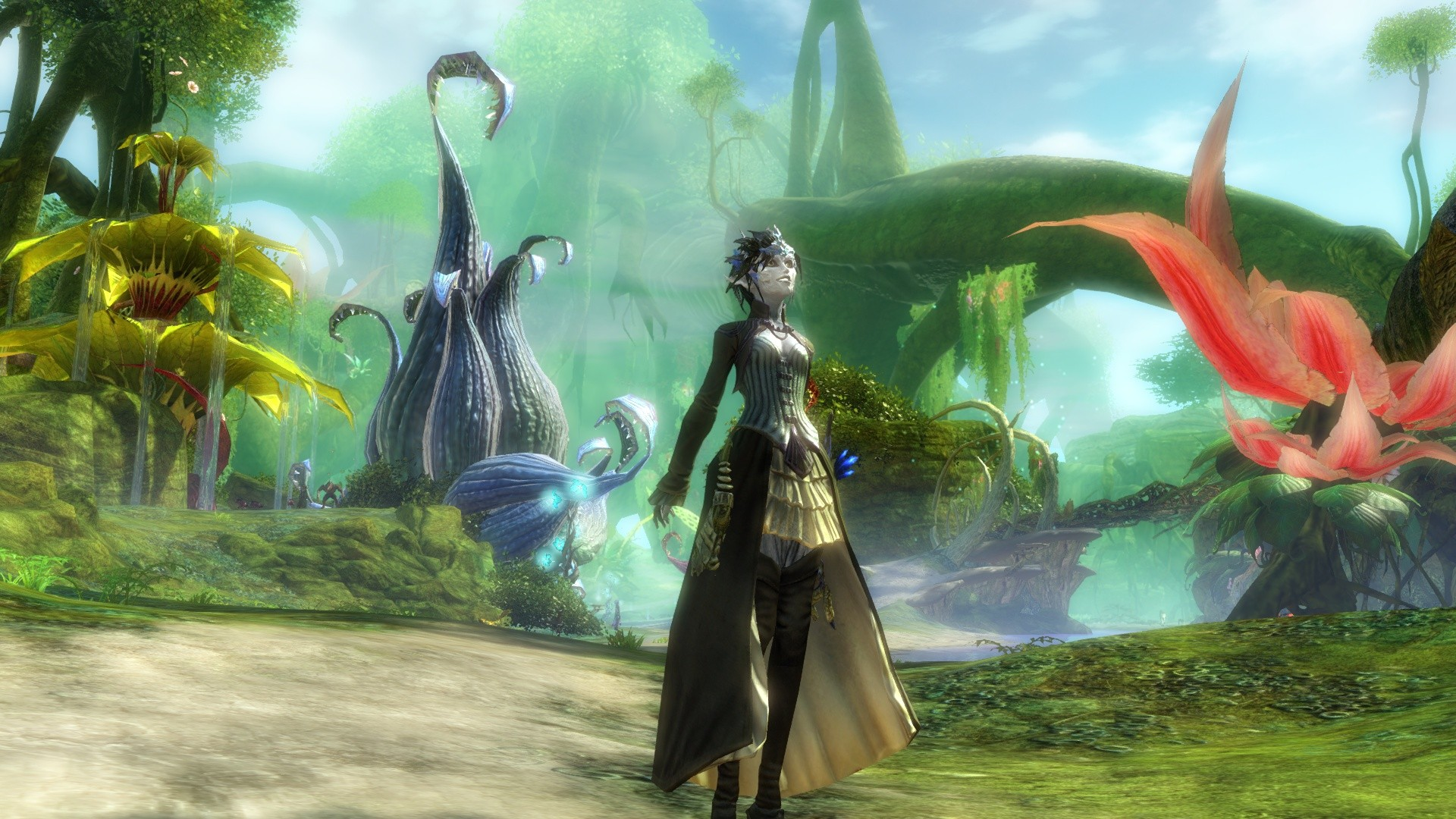 GW2-Sylvari feeling the forest^^