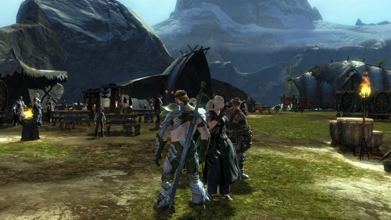 Guild Wars 2 - Gathering and toasting to our fallen