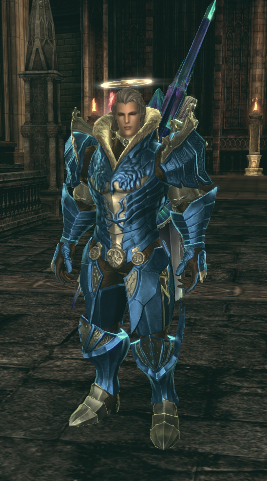 TERA: Rising - decided to make my lancer blue